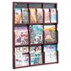 Safco® Expose Adj Magazine/Pamphlet Nine Pocket Display, 29-3/4w x 38-1/4h, Mahogany SAF5702MH