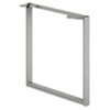 HON® Voi O-Leg Support for Worksurface, 30d x 28-1/2h, Platinum Metallic HONVSL30LT