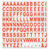 """<strong>MasterVision®</strong><br />Interchangeable Magnetic Board Accessories, Letters, Red, 3/4""""h"""
