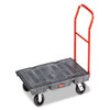 "Rubbermaid® Commercial Heavy-Duty Platform Truck Cart, 2000 lb Capacity, 24"" x 48"" Platform, Black RCP443600BK"