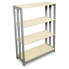 Trento Line Bookcase, Three-Shelf, 31 1/2w x 11 5/8d x 43 1/4h, Oatmeal