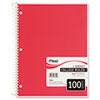 Mead® Spiral Bound Notebook, Perforated, College Rule, 11 x 8 1/2, White, 100 Sheets MEA06622