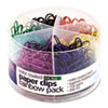 Officemate Plastic Coated Paper Clips, Assorted Colors, 300 Small Clips, 150 Giant Clips OIC97227