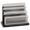 Rolodex™ Mini Sorter, Three Stepped Sections, 7 1/2 x 3 1/2 x 5 3/4, Metal/Black ROLE23572