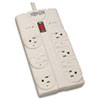 Tripp Lite TLP808 Surge Suppressor, 8 Outlets, 8 ft Cord, 1440 Joules, Light Gray TRPTLP808