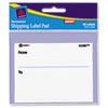 "Avery® Label Pads, ""From/To"", Permanent, 3 x 4, White, 40/Pack AVE45280"
