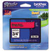 """<strong>Brother P-Touch®</strong><br />TZe Standard Adhesive Laminated Labeling Tape, 0.7"""" x 26.2 ft, Black on Red"""