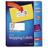 Avery® Shipping Labels with TrueBlock Technology, Laser, 2 x 4, White, 1000/Box AVE5163
