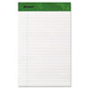 Ampad® Recycled Writing Pads, Jr. Legal/Margin Rule, 5 x 8, White, 50 Sheets, Dozen TOP20154