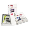 "Avery® Mini Protect & Store View Binder w/Round Rings, 8 1/2 x 5 1/2, 1"" Cap, White AVE23011"