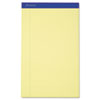 Ampad® Recycled Writing Pads, 8 1/2 x 14, Canary, 50 Sheets, Dozen TOP20280