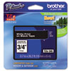"<strong>Brother P-Touch®</strong><br />TZe Standard Adhesive Laminated Labeling Tape, 0.7"" x 26.2 ft, White on Black"