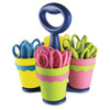 "Westcott® School Scissors Caddy w/24 Pairs of Kids' Scissors w/Microban, 5"" Pointed ACM14755"