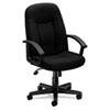 Basyx by HON VL601 Series Executive High-Back Swivel/Tilt Chair, Black Fabric & Frame BSXVL601VA10