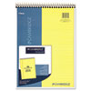 Stiff Back Wire Bound Notebook, Legal Rule, 8 1/2 x 11, Canary Paper, 70 Sheets