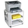 Master® Mobile Printer Stand, Three-Shelf, 17-4/5w x 17-4/5d x 14-3/4h, Platinum MAT24060