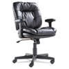 <strong>OIF</strong><br />Executive Bonded Leather Swivel/Tilt Chair, Supports up to 250 lbs, Black Seat/Back/Base