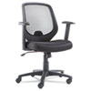 OIF Swivel/Tilt Mesh Mid-Back Chair, Height Adjustable T-Bar Arms, Black OIFCD4218
