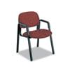 Safco Cava Urth Series Straight Leg Guest Chair - Polyester Burgundy Seat - Polyester Burgundy Back  SAF7046BG