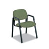 Safco Cava Urth Series Straight Leg Guest Chair - Polyester Green Seat - Polyester Green Back - Blac SAF7046GN
