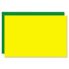 Eco Brites Too Cool Foam Board, 20x30, Fluorescent Yellow/Green, 5/Carton GEO27122