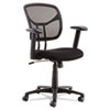 <strong>OIF</strong><br />Swivel/Tilt Mesh Task Chair with Adjustable Arms, Supports up to 250 lbs., Black Seat/Black Back, Black Base