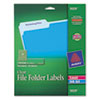 Avery® Clear File Folder Labels, 1/3 Cut, 2/3 x 3 7/16, 450/Pack AVE5029
