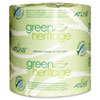 Green Heritage Toilet Tissue, 4 1/2 x 3 1/2 Sheets, 2-Ply, 500/Roll, 48 Rolls/CT