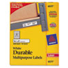 Avery® Permanent ID Labels w/TrueBlock Technology, Laser, 5/8 x 3, White, 1600/Pack AVE6577