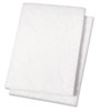 Boardwalk® Light Duty Scour Pad, White, 6 x 9, 20/Carton BWK198