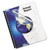 Fellowes® Crystals Presentation Covers with Round Corners, 11 1/4 x 8 3/4, Clear, 100/Pack FEL52311
