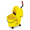 Rubbermaid® Commercial Wavebrake 35 Quart Bucket/Wringer Combinations, Yellow RCP757788YW