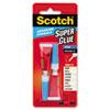 Scotch® Single Use Super Glue, 1/2 Gram Tube, Liquid, 2/Pack MMMAD121