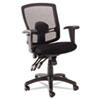 Alera® Alera Etros Series Petite Mid-Back Multifunction Mesh Chair, Black ALEET4017