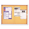 "Quartet® Enclosed Cork Bulletin Board for Indoor Use - 48"" Height x 72"" Width - Brown Natural Co QRTD2405"