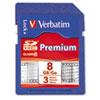 Verbatim® Premium SDHC Memory Card, Class 10, 8GB VER96318