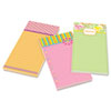 Post-it® Notes Super Sticky Printed Note Pads, 4 x 8, Lined, Assorted Designs, 75-Sheet, 3/Pack MMM7366OFF3