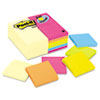 Post-it® Notes Original Pads Value Pack, 3 x 3, Canary Yellow/Cape Town, 100-Sheet, 24 Pads MMM654CYP24VA