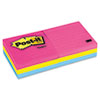 Post-it® Notes Original Pads in Cape Town Colors, 3 x 3, Lined, 100-Sheet, 6/Pack MMM6306AN