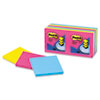 Post-it® Pop-up Notes Original Pop-up Refill, 3 x 3, Assorted Cape Town Colors, 100-Sheet, 12/Pack MMMR33012AN