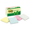 Post-it® Notes Greener Note Pads, 3 x 3, Assorted Helsinki Colors, 100-Sheet, 12/Pack MMM654RPA