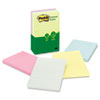 Post-it® Notes Greener Note Pads, Lined, 4 x 6, Assorted Helsinki Colors, 100-Sheet, 5/Pack MMM660RPA