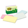 Post-it® Notes Greener Note Pads, 3 x 5, Assorted Helsinki Colors, 100-Sheet, 5/Pack MMM655RPA