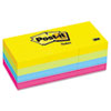 Post-it® Notes Original Pads in Jaipur Colors, 1 1/2 x 2, 100-Sheet, 12/Pack MMM653AU