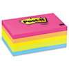 Post-it® Notes Original Pads in Cape Town Colors, 3 x 5, 100-Sheet, 5/Pack MMM6555PK