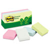 Post-it® Notes Greener Note Pads, 1 1/2 x 2, Assorted Helsinki Colors, 100-Sheet, 12/Pack MMM653RPA