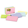 Post-it® Notes Original Pads in Marseille Colors, 3 x 5, 100-Sheet, 5/Pack MMM655AST