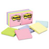 Post-it® Notes Original Pads in Marseille Colors, 3 x 3, 100-Sheet, 12/Pack MMM654AST