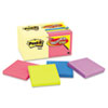 Post-it® Notes Original Pads Value Pack, 3 x 3, Canary Yellow/Cape Town, 100-Sheet, 18 Pads MMM654144B