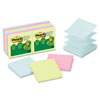 Post-it® Notes Greener Pop-up Notes, 3 x 3, Assorted Helsinki Colors, 100-Sheet, 12/Pack MMMR330RP12AP